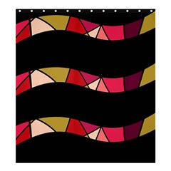 Abstract waves Shower Curtain 66  x 72  (Large)