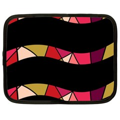 Abstract Waves Netbook Case (xxl)