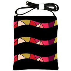 Abstract waves Shoulder Sling Bags
