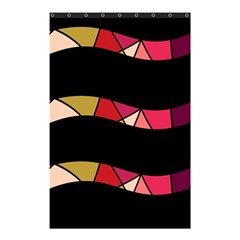 Abstract waves Shower Curtain 48  x 72  (Small)