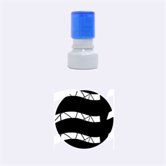 Abstract waves Rubber Round Stamps (Small)