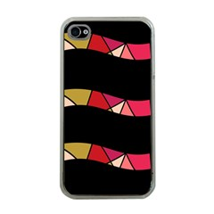 Abstract waves Apple iPhone 4 Case (Clear)