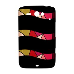 Abstract waves HTC ChaCha / HTC Status Hardshell Case