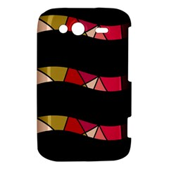 Abstract waves HTC Wildfire S A510e Hardshell Case