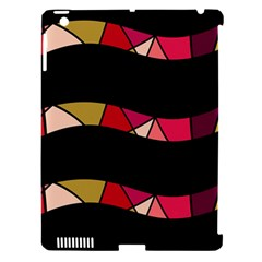 Abstract waves Apple iPad 3/4 Hardshell Case (Compatible with Smart Cover)