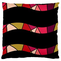 Abstract waves Large Cushion Case (One Side)