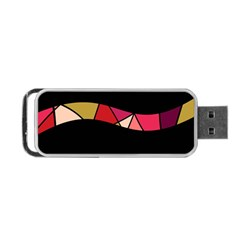 Abstract waves Portable USB Flash (One Side)