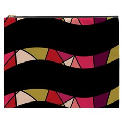Abstract waves Cosmetic Bag (XXXL)