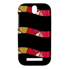 Abstract waves HTC One SV Hardshell Case