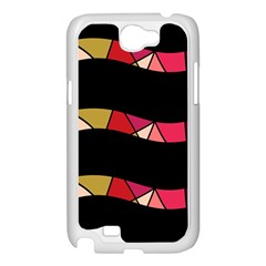 Abstract waves Samsung Galaxy Note 2 Case (White)
