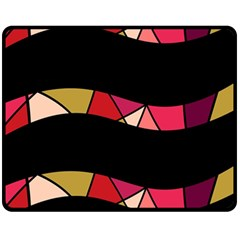 Abstract waves Double Sided Fleece Blanket (Medium)