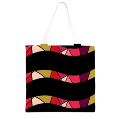 Abstract waves Grocery Light Tote Bag