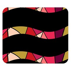 Abstract waves Double Sided Flano Blanket (Small)