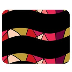 Abstract waves Double Sided Flano Blanket (Medium)