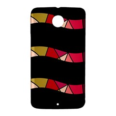 Abstract waves Nexus 6 Case (White)