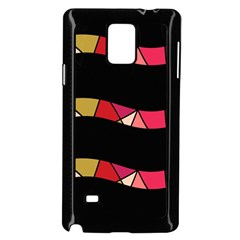 Abstract waves Samsung Galaxy Note 4 Case (Black)