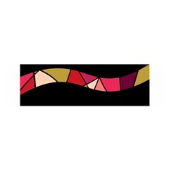 Abstract waves Satin Scarf (Oblong)