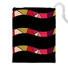 Abstract waves Drawstring Pouches (XXL)