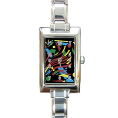 Optimistic abstraction Rectangle Italian Charm Watch