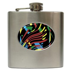 Optimistic abstraction Hip Flask (6 oz)