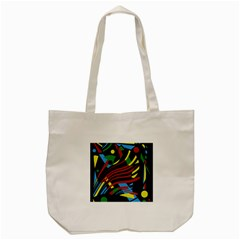 Optimistic abstraction Tote Bag (Cream)
