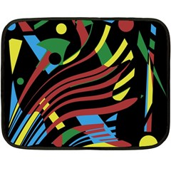 Optimistic abstraction Fleece Blanket (Mini)