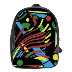 Optimistic abstraction School Bags(Large)