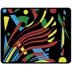 Optimistic abstraction Fleece Blanket (Medium)