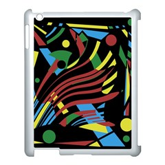 Optimistic abstraction Apple iPad 3/4 Case (White)