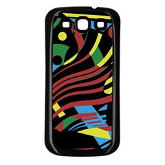 Optimistic abstraction Samsung Galaxy S3 Back Case (Black)