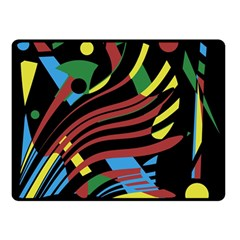 Optimistic abstraction Double Sided Fleece Blanket (Small)