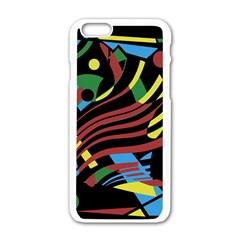 Optimistic abstraction Apple iPhone 6/6S White Enamel Case