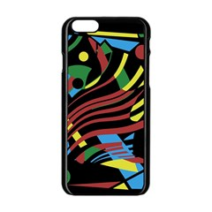 Optimistic abstraction Apple iPhone 6/6S Black Enamel Case