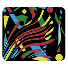 Optimistic abstraction Double Sided Flano Blanket (Small)