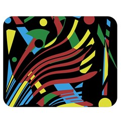 Optimistic abstraction Double Sided Flano Blanket (Medium)