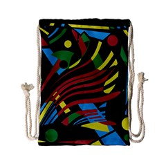 Optimistic abstraction Drawstring Bag (Small)