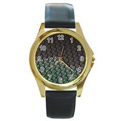 Wash Colville3 Round Gold Metal Watch