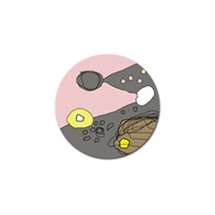 Decorative abstraction Golf Ball Marker (4 pack)