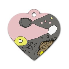 Decorative abstraction Dog Tag Heart (One Side)