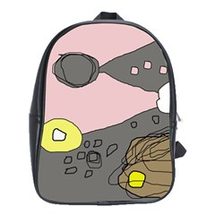 Decorative abstraction School Bags (XL)