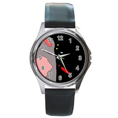 Crazy abstraction Round Metal Watch