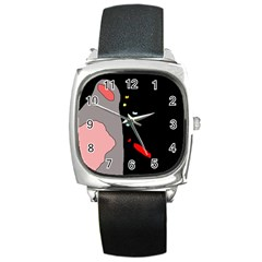 Crazy abstraction Square Metal Watch