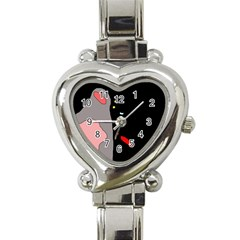 Crazy abstraction Heart Italian Charm Watch