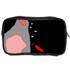 Crazy abstraction Toiletries Bags
