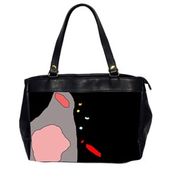 Crazy abstraction Office Handbags (2 Sides)