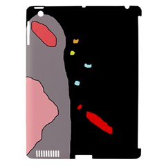 Crazy abstraction Apple iPad 3/4 Hardshell Case (Compatible with Smart Cover)