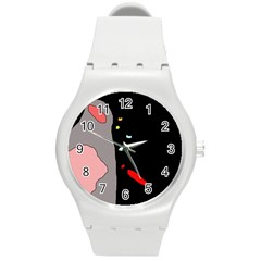Crazy abstraction Round Plastic Sport Watch (M)