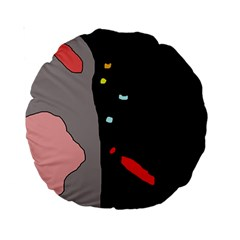 Crazy abstraction Standard 15  Premium Round Cushions