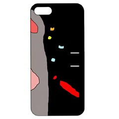 Crazy abstraction Apple iPhone 5 Hardshell Case with Stand