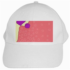 Pink abstraction White Cap